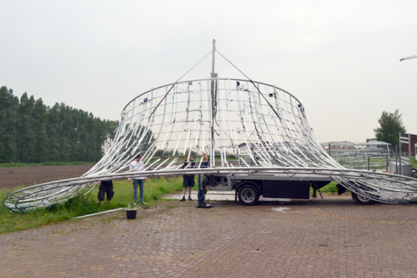 vendel en de wolf whole hole for transport / rent from light art collection